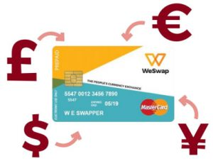 WeSwap la carte prépayée pour le change de devises