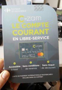 coffrets compte sans banque C-Zam seront distribués dans 3.000 magasins des enseignes Carrefour