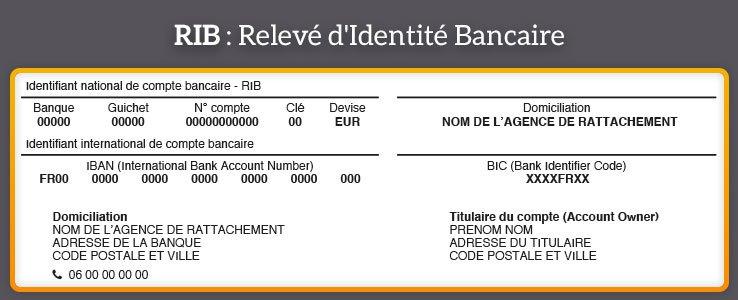Compte sans banque avec RIB